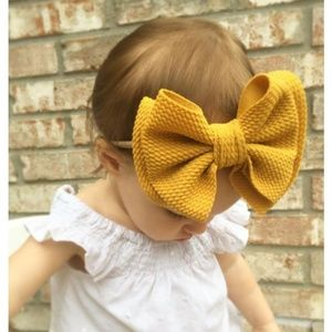 Other - NWT- Baby Toddler Kids Big Bow Headband